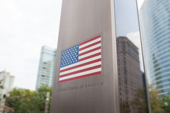 Series of flags on pole - United States of America Royalty Free Stock Image