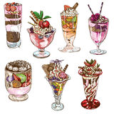 From the series food: Sweetness. An hand drawn full sized illustraton from the series Food around the World: Sweetness, Candies, Cakes Royalty Free Stock Images