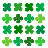 Series four leaf clover green Royalty Free Stock Photography