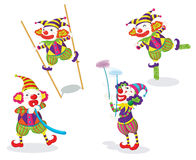 Series of funny clowns Royalty Free Stock Photos