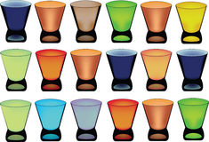 Series of glasses Royalty Free Stock Images