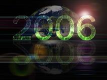 Series globales del fondo 2006 años ilustración del vector