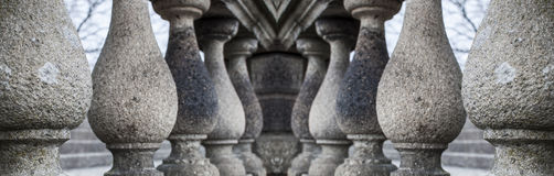 Series of granite columns Royalty Free Stock Photo