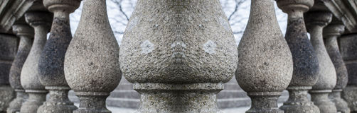 Series of granite columns Royalty Free Stock Photos
