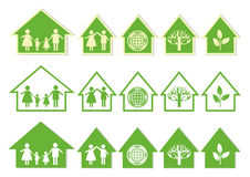 Series Green House Icons Stock Image