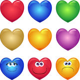Series of hearts Stock Images