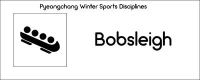 Icon depicting Bobsleigh discipline of winter sports games in Py Royalty Free Stock Photo