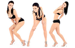 Series of images of the beautiful brunette Royalty Free Stock Image