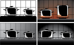 Series of images of kitchen ware Stock Photo