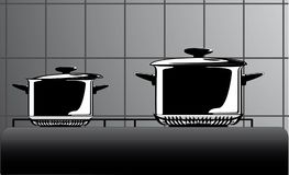 Series of images of kitchen ware Royalty Free Stock Image