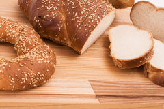 Series of images of kitchen ware. bread Royalty Free Stock Photography