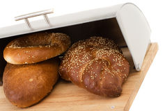 Series of images of kitchen ware. bread bin Royalty Free Stock Image
