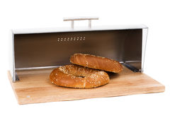 Series of images of kitchen ware. bread bin Royalty Free Stock Images