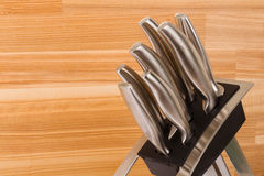 Series of images of kitchen ware. Knife set Stock Photo