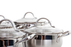 Series of images of kitchen ware. Pan Royalty Free Stock Images