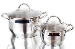 Series of images of kitchen ware. Pan Stock Photo