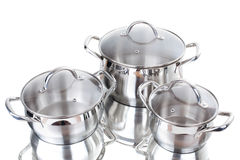Series of images of kitchen ware. Pan Stock Photography