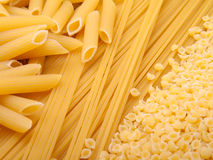 Series of images with pasta Stock Photos