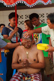 A series of initiation rites that have changed to the new man at the temple Thailand. Bangkok March 1: a series of initiation rites that have changed to the new Royalty Free Stock Photos