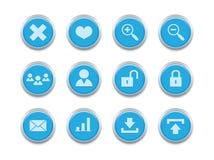 Series_internet azul icons2 Foto de Stock Royalty Free