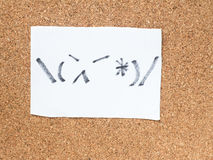The series of Japanese emoticons called Kaomoji, angry Royalty Free Stock Image