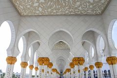 Series of Keyhole Archways in Sheikh Zayed Mosque royalty free stock photos