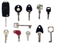 Series of keys Royalty Free Stock Images