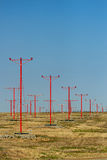 Airport Landing Light Towers Stock Photography