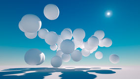Floating Spheres Stock Photos
