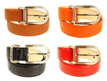 Series of leather belts Royalty Free Stock Image