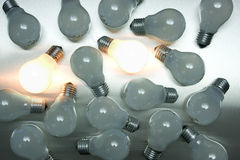Series of lightbulbs Stock Photos