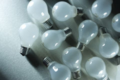 Series of lightbulbs Stock Photo