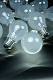 Series of lightbulbs Stock Photography
