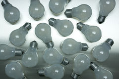 Series of lightbulbs Stock Images