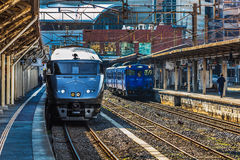 The 787 series a Limited express train at Nagasaki Station Royalty Free Stock Image