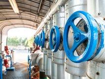 Series of manual handwheel valves royalty free stock images