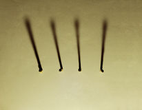 Series of Match stick Royalty Free Stock Photography