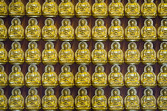 Series of mini buddha in an old Thai temple at Wat Leng Noei Yi Stock Photography