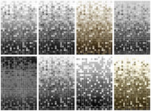 Series from 8 mosaic pixel background Stock Image