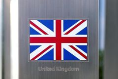 Series of national flags on metal pole - Great Britain. National flags on metal pole series - Great Britain Stock Photos