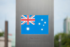 Series of national flags on pole - Australia Royalty Free Stock Photos
