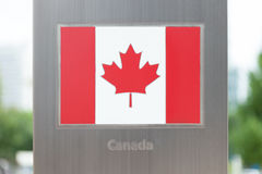 Series of national flags on pole - Canada Stock Photos