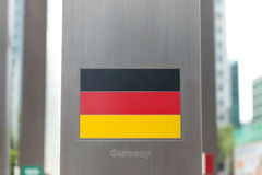 Series of national flags on pole - Germany Royalty Free Stock Images