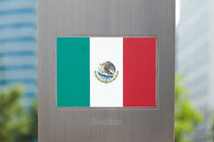 Series of national flags on pole - Mexico Royalty Free Stock Photos