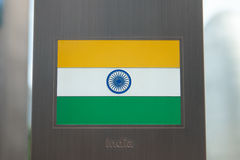 Series of national flags on pole - Republic of India Stock Photos