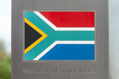 Series of national flags on pole - Republic of South Africa Royalty Free Stock Photo