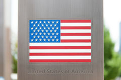 Series of national flags on pole - United States of America Stock Photos