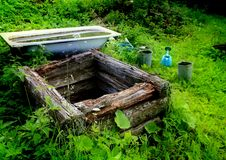 An old abandoned well. Royalty Free Stock Photos