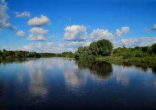 The shore of the river Klyazma. Vladimir region. royalty free stock image