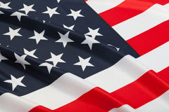 Series of neat ruffled flags - United States of America Royalty Free Stock Photos